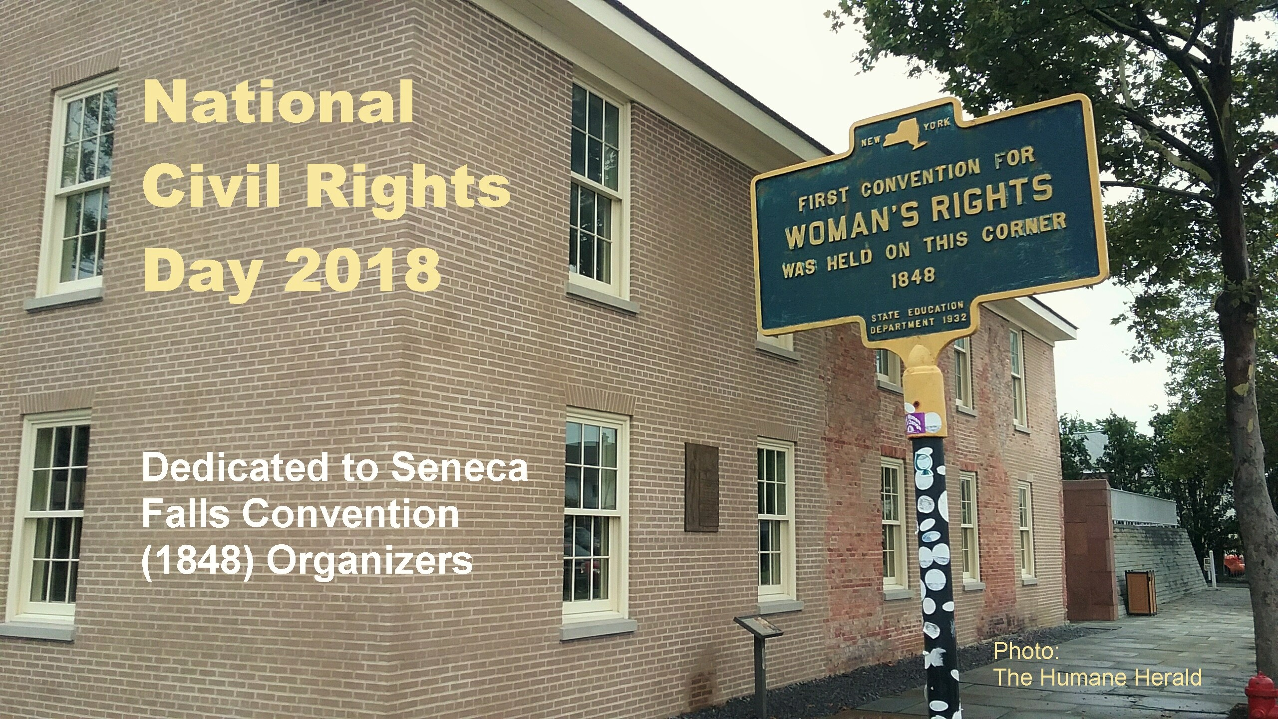National Civil Rights Day 2018 | Seneca Falls Convention (1848)